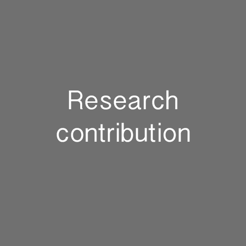 Research contribution 2016